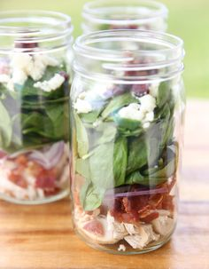 Chicken Bacon Salad Jars from Our Best Bites