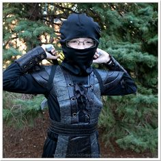 Ninja Fighter Leather Boys Halloween Costume AD  |  3 Garnets & 2 Sapphires Boy Halloween Costumes, Cool Costumes, Garnet, Ninja, Sapphire, Superhero, Boys, Leather, Fictional Characters