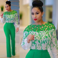 The stylish attires that would be displayed here would show you how you could dress to a formal environment and still be hot enough to turn heads outside the professional environment. Find below some of the stylish outfits for Nigerian women. African Wear, African Attire, African Fashion Dresses, African Dress, African Women Fashion, Chic Outfits, Fashion Outfits, Womens Fashion, Office Outfits