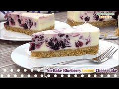 No-Bake Blueberry Lemon Cheesecake | MyKitchen101en.com