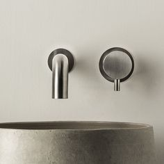 Waschtisch-Einhebelmischer / Wandmontage / aus Edelstahl / für Badezimmer DIMENSIONE74: 5740+5100 MINA Rubinetterie