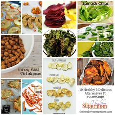 Healthy Alternatives to Chips - GREAT yummy ideas!!