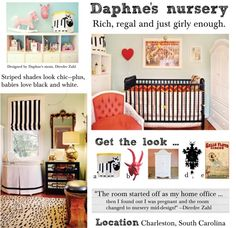 Daphne's nursery: Rich, regal and just girly enough.