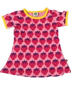 Smafolk gorgeous summer baby dress covered in strawberries. smafolk.en.emilea.be