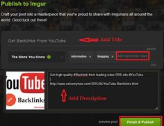 How to Get Backlink From Imgur | Solve My How  #SEO #Social #Media #Marketing #Blogging