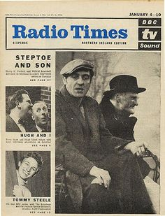 Steptoe and Son on the cover of the Radio Times, January 4th 1964 - one of my all time favourite sitcoms
