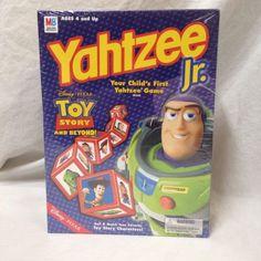 Toy Story Yahtzee Jr Dice Game Disney Pixar Hasbro SEALED Complete 2002 Edition | eBay #yahtzee