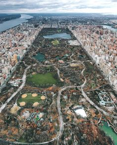 Gorgeous aerial shot of Central Park, NYC