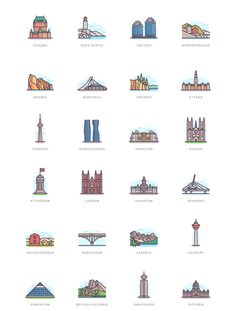 332 Landmarks on Behance Building Illustration, Travel Illustration, Illustration Story, Building Icon, City Icon, Buch Design, Flag Icon, Ligne Claire, Insta Icon