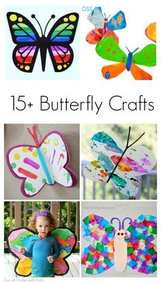 Spring Butterfly Crafts for Kids Over 15 beautiful crafts for toddlers, preschoolers, and elementary school children that celebrate spring butterflies from Fun at Home with Kids Want great tips and hints about arts and crafts? Toddler Art, Toddler Crafts, Preschool Crafts, Fun Crafts, Crafts For Kids, Arts And Crafts, Spring Activities, Activities For Kids, Spring Theme