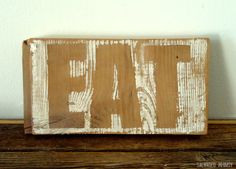"Hand Painted Wood ""Eat"" Sign by Salvaged Whimsy on Etsy"