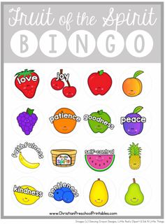 Fruit of the Spirit Bookmark, Coloring Sheet, Bingo Page and more plus Free Sunday School Printables on Frugal Coupon Living.