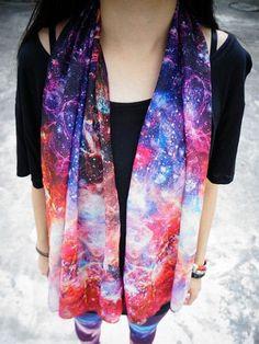 Fantasy Galaxy Scarf | Choies #galaxy #fashion #galaxy_fashion