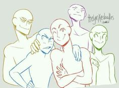 """thelynxiedoodles: """" Draw the squad/ the otp like this memes! Because WHY N O T (My friends take the weirdest pictures/textbooks are funny) """" Drawing Base, Figure Drawing, Draw The Squad, Draw The Otp, Drawing Templates, Poses References, Art Prompts, Drawing Expressions, Drawing Reference Poses"""