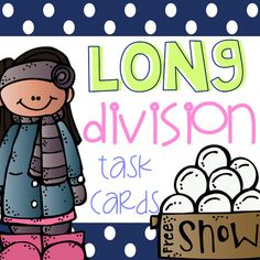 28 Division Task cards (great for math centers, whole group activities, independent practice, and more). -Answer key and student recording sheet are included. More 4th grade math resources: 4th Grade End Of The Year Math Review Packet Fraction Task Card Bundle (9 center activities) Math Rotation Po...