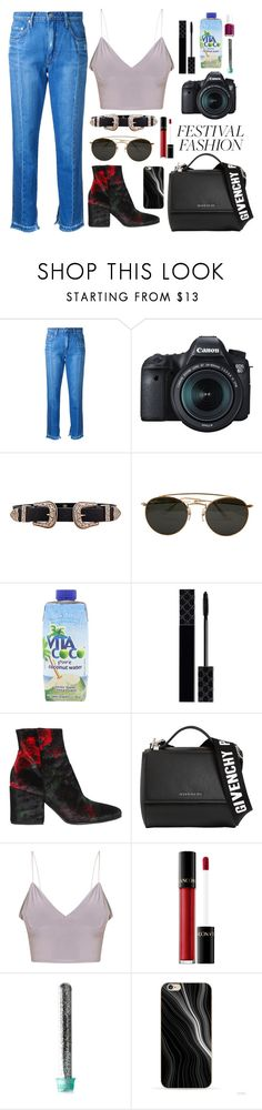 """""""Festival Fashion - 2065"""" by thecaitlinpeters ❤ liked on Polyvore featuring Nobody Denim, Eos, B-Low the Belt, Ray-Ban, Vita Coco, Gucci, Strategia, Givenchy, Lancôme and Forever 21"""