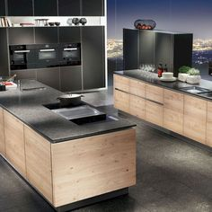 Fabulous Modern Kitchen Sets on Simplicity, Efficiency and Elegance - Home of Pondo - Home Design Black Kitchen Countertops, Modern Kitchen Cabinets, Loft Design, Küchen Design, House Design, Minimalist Home Decor, Minimalist Interior, Barn Kitchen, Black Kitchens
