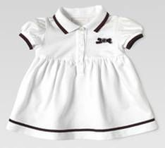 White polo dress from Gucci baby