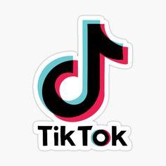 'Tiktok Logo' Sticker by KhloeKreations Preppy Stickers, Cute Laptop Stickers, Bubble Stickers, Phone Stickers, Cool Stickers, Printable Stickers, Planner Stickers, Logo Sticker, Sticker Design