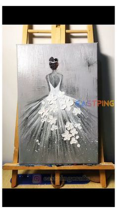 Canvas Painting Tutorials, Diy Canvas Art, Watercolor Art, Painting Abstract, Knife Painting, Tattoo Abstract, Ballerina Painting, Abstract Painting Techniques, Abstract Portrait