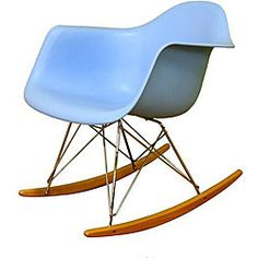 Eames-Inspired Molded Plastic Rocking Chair - Sit, Socialize, and Enjoy Dining Arm Chair, Living Room Chairs, Living Room Furniture, Modern Furniture, Furniture Design, Furniture Decor, Classroom Furniture, Dining Room, House Furniture
