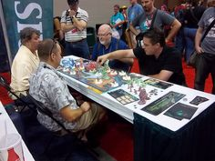 Sandy Petersen runs one of many demos of his new game, Cthulhu Wars. greeneyegames.com/