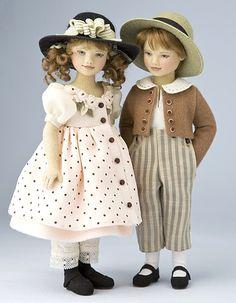 wonderful Tess & Cameron dolls by Maggie Iacono Bjd Doll, Ooak Dolls, Blythe Dolls, Doll Toys, Girl Dolls, Baby Dolls, Victorian Dolls, Antique Dolls, Vintage Dolls