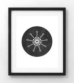 Downloadable Art Mid Century Modern Atomic Star Home by fileclerk Minimalist Art, Mid-century Modern, Contemporary Art, Mid Century, Stars, Abstract, Unique Jewelry, Etsy, Vintage