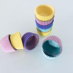 Decora Pastell Mini Cupcake Papierbackförmchen, 200 Stück Mini Cupcakes, Pastell Party, Nespresso, Lilac, Bakeware, Pastel Colors