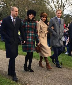 The royal family on their annual Christmas walk to church in Norfolk near Sandringham.  Photo by Karen Anvil. #meghanmarkle #princeharry #katemiddleton #princewilliam via MARIE CLAIRE MAGAZINE OFFICIAL INSTAGRAM - Celebrity  Fashion  Haute Couture  Advertising  Culture  Beauty  Editorial Photography  Magazine Covers  Supermodels  Runway Models