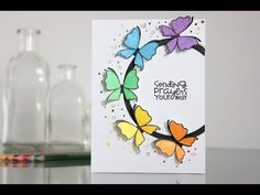 Colorful butterflies with Paper Smooches - YouTube
