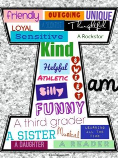 """FREE iPad activity perfect for back to school! Students use the included QR code to download a blank letter """"I"""" then follow the included directions to set the image as a background and add describing words that tell about themselves using the free iPad ap"""