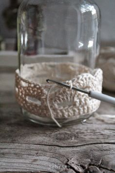 (notitle) - Christmas craft show ideas - Crochet Gifts, Crochet Yarn, Crochet Stitches, Free Crochet, Crochet Patterns, Diy Home Accessories, Crochet Accessories, Mason Jar Crafts, Bottle Crafts