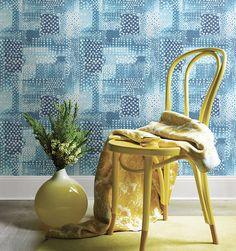 Boho wallpaper.  Playful florals.  Kismet Collection by Brewster at http://lelandswallpaper.com #wallpaper #bohochic