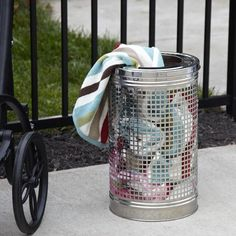 Stainless Steel Towel Bin Outdoor Coffee Tables, Outdoor Chairs, Outdoor Furniture, Hardware, Stainless Steel, Accessories, Outdoors, Home Decor, Towels