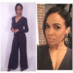 Michelle Williams co-hosting the new daytime talk show fab life show in Dori Opera earrings.  #DoriCsengeri #michellewilliams #talkshow #tvhost #earrings #fashionaccessories