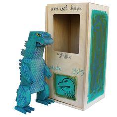 Amanda Visell's wood idols are amazing... Godzilla wood idol