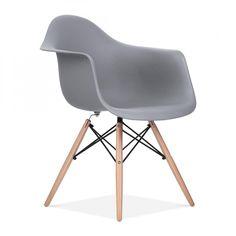 Charles E Style Kühles Grau DAW Stuhl