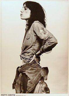 Patti Smith Amsterdam 1976 24x33 Poster – BananaRoad