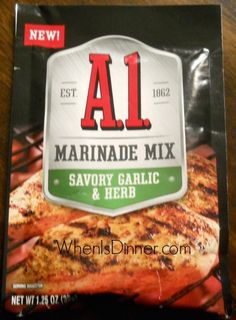 Different Marinades and Seasonings