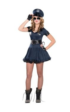 teen girls locked n loaded cop costume - Girls Cop Halloween Costume