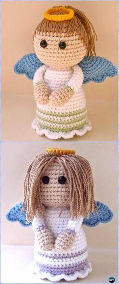 Crochet Lovely Angel Free Pattern -Amigurumi Crochet Christmas Softies Toys Free Patterns
