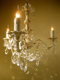 french rococo painted chandelier//this is how I want to redo my chandelier