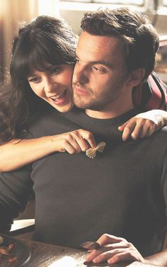 Jess & Nick//Zooey & Jake. Either way, cute.