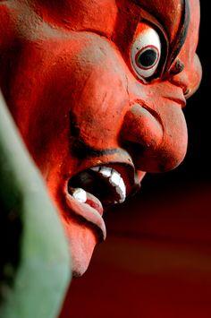 An angry deity in Oya #japan #tochigi #utunomiya