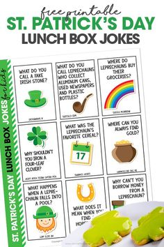 Who said lunchtime had to be boring? Get your kids laughing at lunchtime with these funny and free printable St. Patrick's Day Lunch Box Jokes. A fun way to make March more exciting!