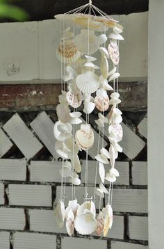 White Seashell Wind Chimes|Natural Seashell|Garden Decor| wind chime|gift for her|unique gift|beach decor|souvenir|Morther's gift|home decor by SukaShop on Etsy Interior Design Layout, Interior Design Business, Interior Design Living Room, Room Interior, Seashell Wind Chimes, Diy Wind Chimes, Seashell Crafts, Shell Art, Sea Shells