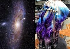 Ez a lány a hajára festette a Tejútrendszert! Nézd meg, mi lett belőle!