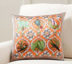 2 FOR SOFA TO LAYER OVER TURQUOISE PILLOWS - Accent pillow for bed, Bird Scarf Print Pillow Cover