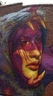 Natalia Rak New Mural In Richmond, USA | Detail